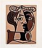 Pablo Picasso, (Spanish, 1881-1973), Femme assise au chignon, 1962