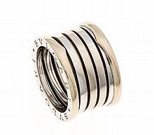 Bvlgari-Ring GG/WG 750/000, B. 12 mm, RG 55,14,9 g