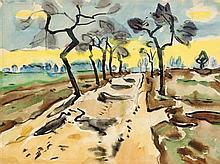 Fritz Winkler (1894-1964) (attrib.), stud. an der Kunstgewerbeakademie in Dresden, ab 1918 an der Dresdner Akademie für Bildende Künste, Meisterschüler bei Hegenbarth, verlor im I.Wk ein Auge, seit 1921 freischaffend in Dresden tätig, expressiv