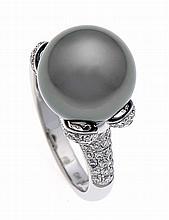 Tahiti-Brillant-Ring WG 750/000 mit einer excellen