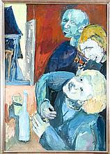 Revellio 2. H. 20. Jh. drei Figuren an der Bar