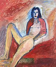 Berliner Maler um 1980 große expressive Figur Öl