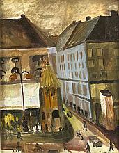 Dänischer Expressionist Mitte 20. Jh. städtische