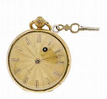 Spindeltaschenuhr vergoldet England um 1830 Messi