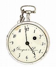 Spindeltaschenuhr Breguet a Paris um 1810 versilb