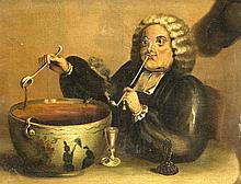 Anonymer Maler des 19. Jh. wohl karikierte Gestal