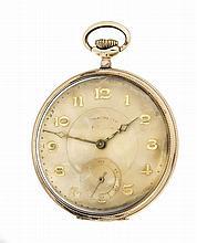 Herrentaschenuhr Chronometre GG 585/000 Staubdecke