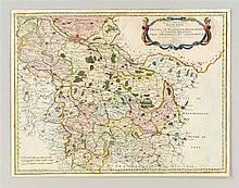 Historische Karte von Niedersachsen 'Haute Partie