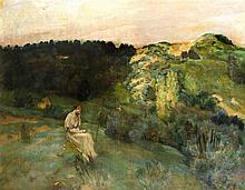Unidentifizierter Maler um 1900 große Landschaft