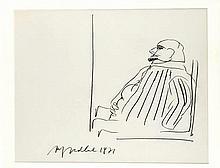 Alfred Hrdlicka (1928-2009) sitzender Mann im Pro