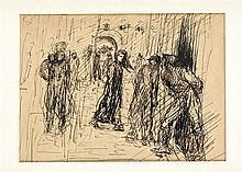 Alfred Kubin (1877-1959) (attrib.) Hinterhalt ku