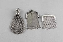 Drei Portemonnaies 20. Jh. Silber 835/000  bzw.