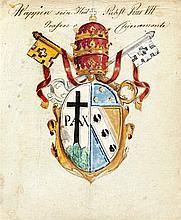 Konvolut Heraldik 16.-18. Jh. vier Wappenmalerei