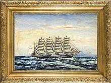 C. Ostergaard dänischer Marinemaler um 1900 Vier