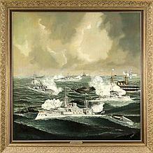 K. Matthiessen Marinemaler Ende 19. Jh. große Se