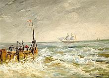 Unidentifizierter Marinemaler 1. H. 20. Jh. Hafen