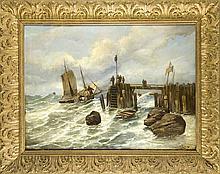 Anonymer Marinemaler des 19. Jh. großes Seestück