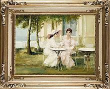 Luigi Rocca (*1952) ital. Maler zwei junge Fraue