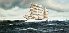Edmund Völz dt. Marinemaler Mitte 20. Jh. Dreima