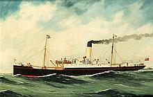 A.J. Jansen Belgischer Marinemaler Schiffsportra