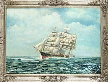 Craemer Marinemaler 1. H. 20. Jh. Dreimaster auf