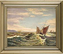 Aage Petersen dänischer Marinemaler 1. H. 20. Jh.