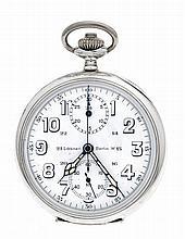 Fa. Löbner Berlin Taschen-Chronograph Silber 800/0