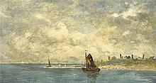 E. Gertner Marinemaler 1. H. 20. Jh. Küstenparti