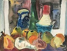 Rudolf Bredow (1909-1973) Stillleben mit Obst und