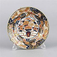 Teller China19 Jh Imari-Dekor in Unterglasurbl