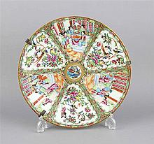 Teller China Kanton 19. Jh. polychrome Emaille