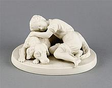 Junge mit Hund Gustavsberg Schweden1911 weißes