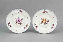 Zwei Zierteller KPM Berlin Marke 1800-1830 1. W
