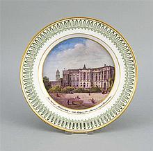 Ansichtenteller KPM Berlin Marke 1800-35 Malerm