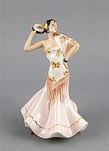 Flamencotänzerin Anf. 20. Jh. Keramik polychrom