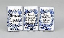 Drei Frühstücksbrettchen deutsch Anf. 20. Jh. D