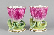 Zwei Historismus-Vasen KPM Berlin Pfennigmarke 1