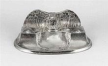 Patriotische Schreibtischgarnitur um 1914 Metall
