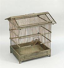 Vogelbauer 1. H. 20. Jh. dekorativer Käfig mit Sa