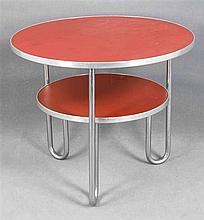 Runder Tisch mit mittlerer Ablage Anf. 20. Jh. w