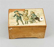 Spieluhr 1. H. 20. Jh. Weichholzkorpus mit Kurbe