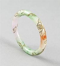 Jade-Armreif China goldfarben eingefärbte Gravur