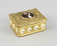 Rechteckige Deckeldose mit Spieluhr um 1900 Bron
