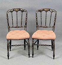 Zwei Kinderstühle 2. H. 19. Jh. Holzgestell gedr