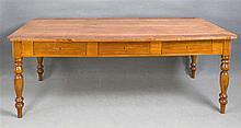 Großer Schreibtisch Mitte 20. Jh. Kirschbaumholz