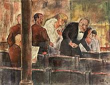 Zaza Tuschmalischvili (*1960), georgischer Maler, tätig in Berlin, im Theat
