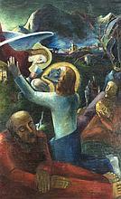Anton Steinhart (1889-1964), Jesus am Ölberg, eindrucksvoll vor nächtlich-f