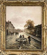 Emil Barbarini (1855-1933) (attrib.), Wiener Ansichtenmaler, Bauernpaar tre