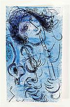 Marc Chagall (1887-1985), Farblithographie 'Der Flötenspieler', Farblithogr