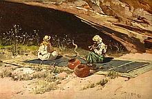 Riccardo Pellegrini (1863-1934), Landschafts- und Genremaler, studierte in